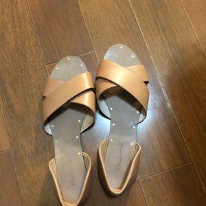 Madewell Thea Crisscross Sandals in Blush